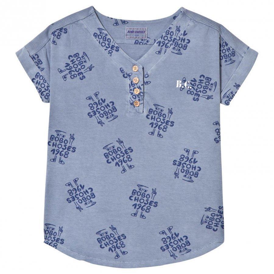 Bobo Choses 1968 Baseball Tunic Dress Cloud Blue Mekko