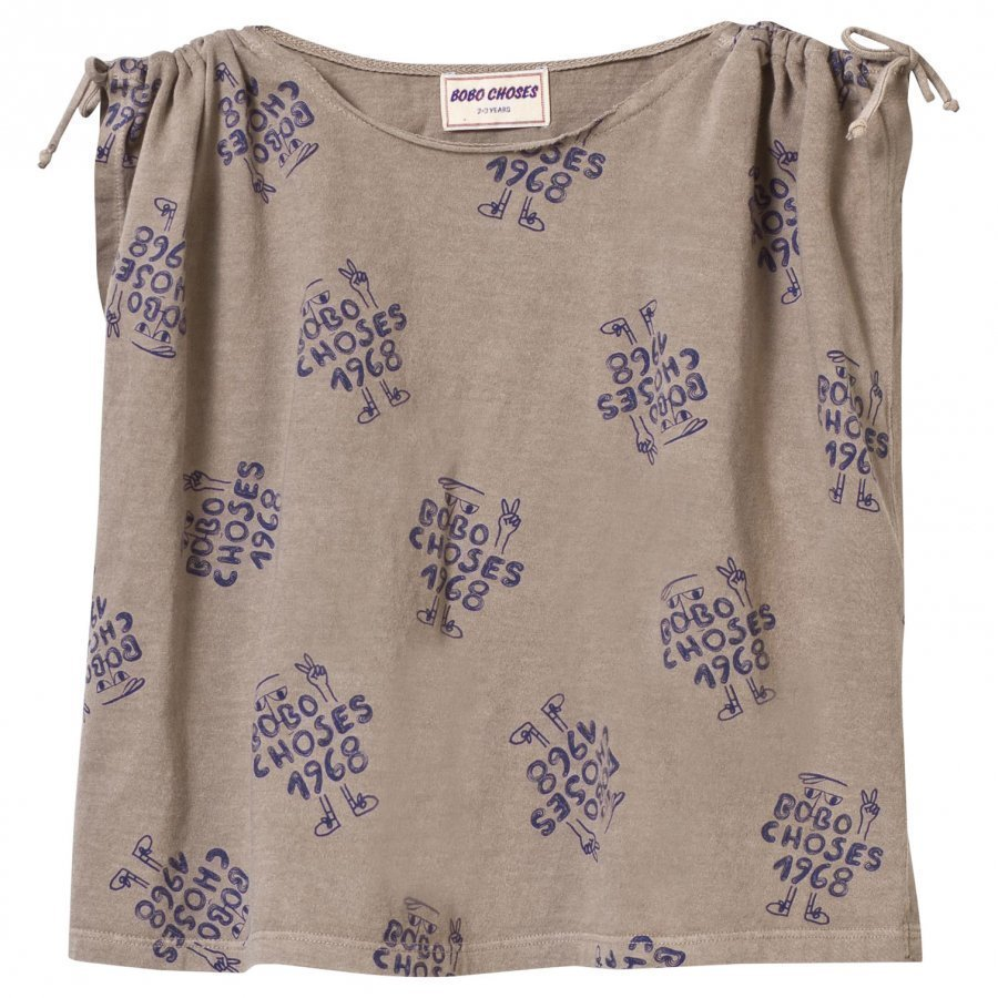 Bobo Choses 1968 Drawstring T-Shirt Chateau Grey T-Paita