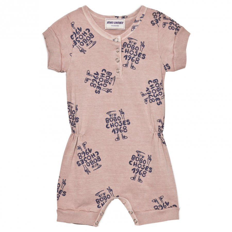 Bobo Choses 1968 Romper Off Rose Romper Puku