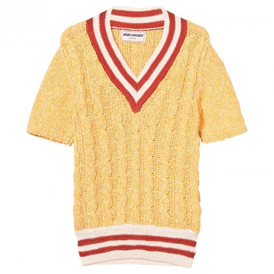 Bobo Choses B.C. Cable Knit Sweater Golden Nugget Paita