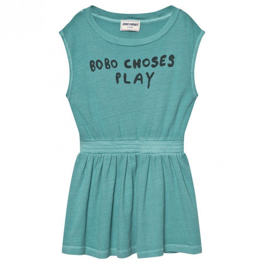 Bobo Choses B.C. Play Tennis Dress Turquoise Blue Tennismekko