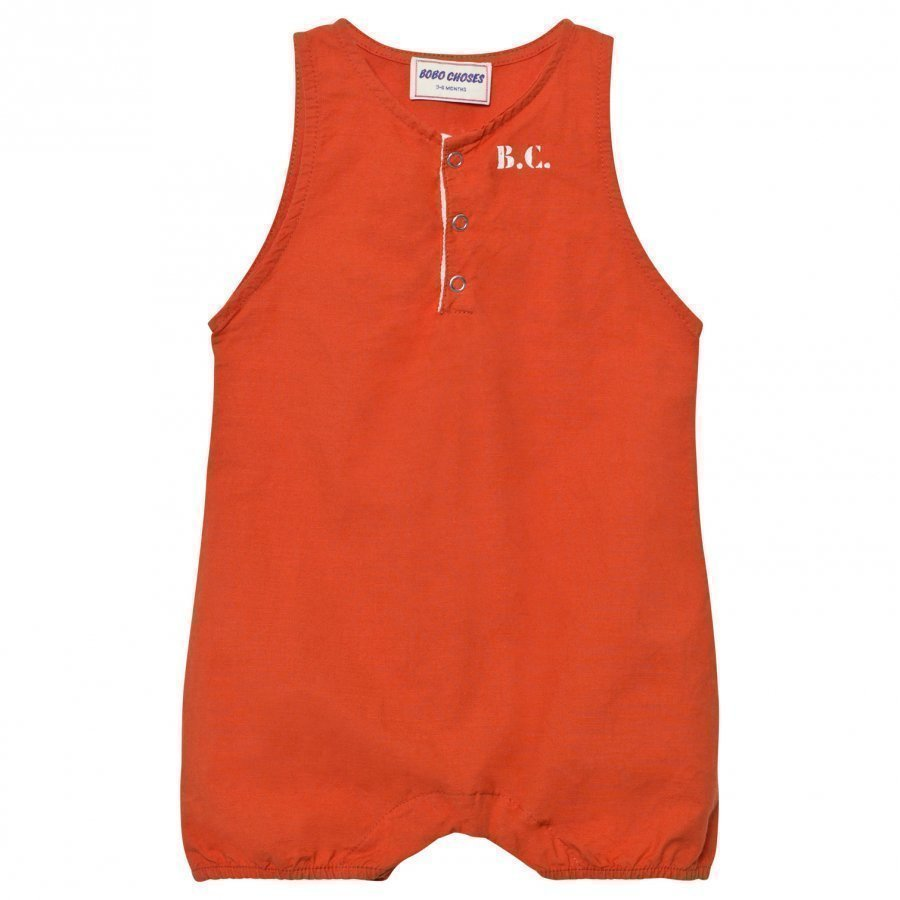 Bobo Choses B.C. Team Baby Romper Red Clay Romper Puku