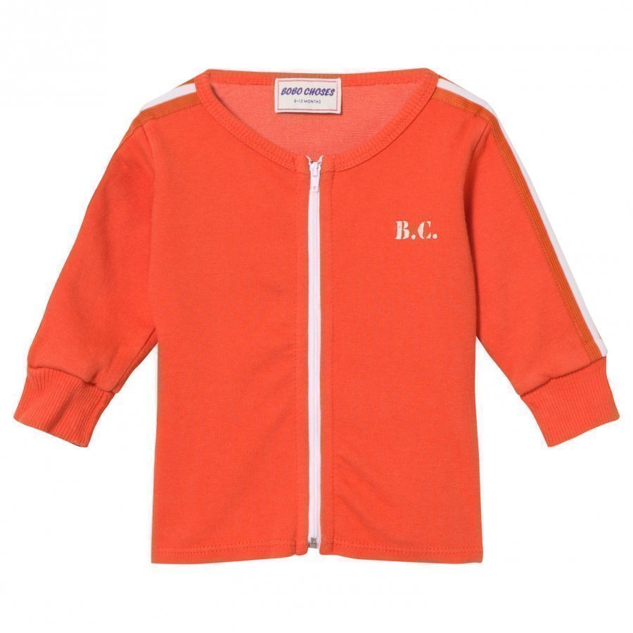 Bobo Choses B.C. Team Baby Zip Sweatshirt Red Clay Oloasun Paita