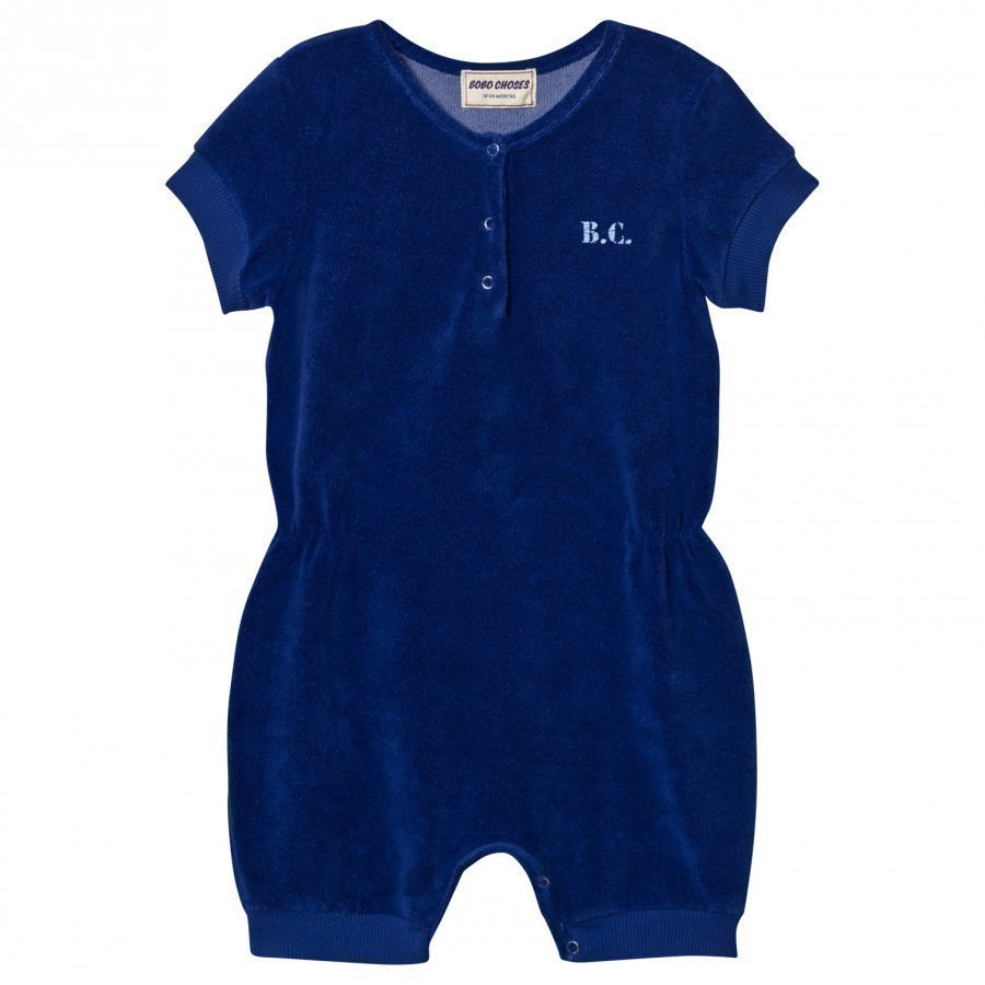 Bobo Choses B.C. Team Terry Romper Mazarine Blue Romper Puku