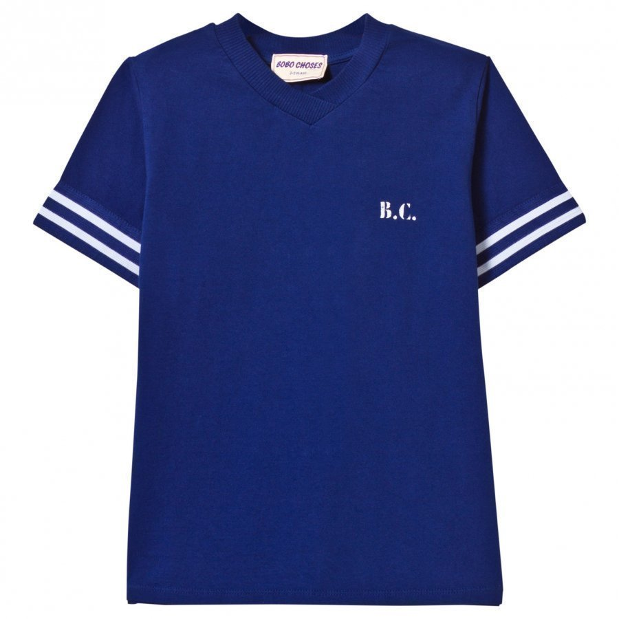 Bobo Choses B.C. Team V-Neck T-Shirt Mazarine Blue T-Paita