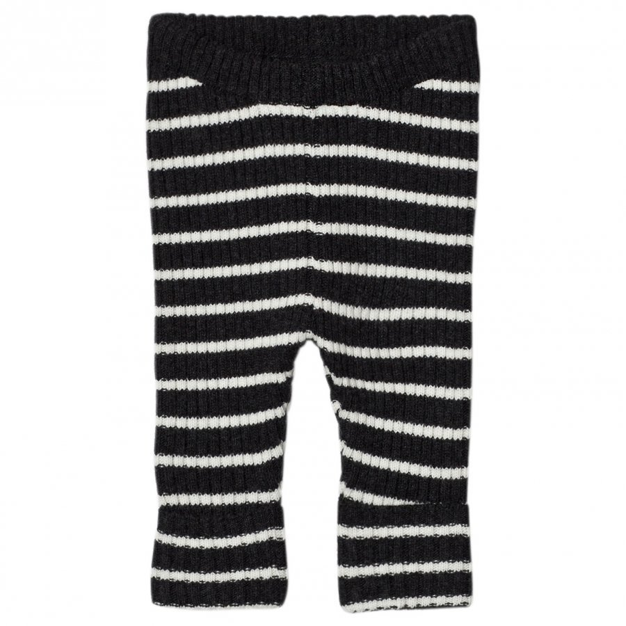 Bobo Choses Baby Knitted Leggings Black Stripes Legginsit