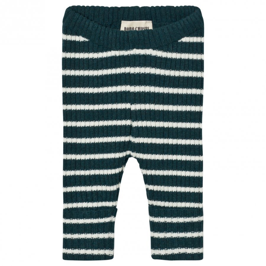 Bobo Choses Baby Knitted Leggings Stripes Dark Blue Legginsit