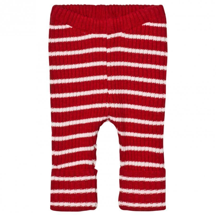 Bobo Choses Baby Knitted Leggings Stripes Red Legginsit
