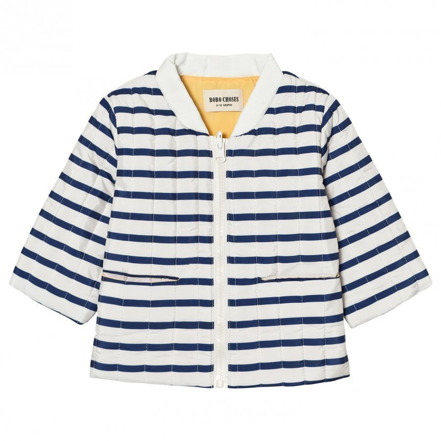 Bobo Choses Baby Reversible Padded Jacket Navy Stripes Tikkitakki