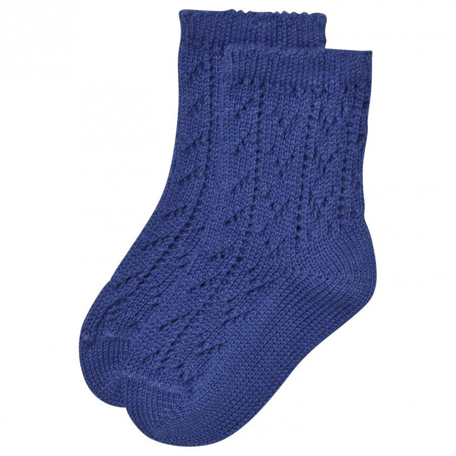 Bobo Choses Baby Short Jacquard Socks Mazarine Blue Sukat