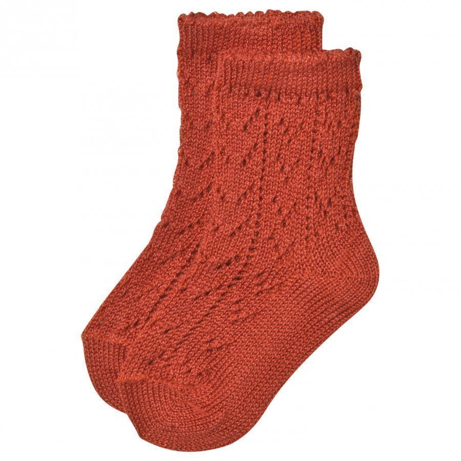 Bobo Choses Baby Short Jacquard Socks Red Clay Sukat
