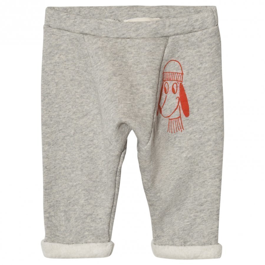 Bobo Choses Baby Sweatpants Loup Embroidery Verryttelyhousut
