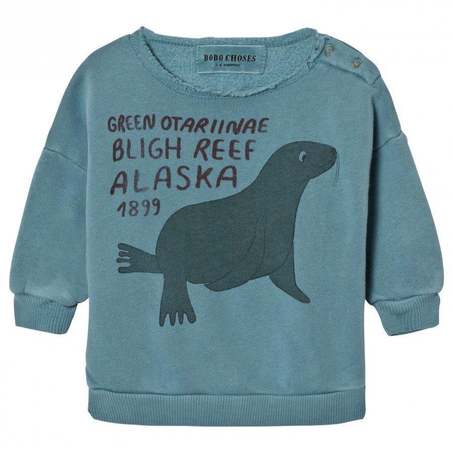 Bobo Choses Baby Sweatshirt Green Otariinae Oloasun Paita