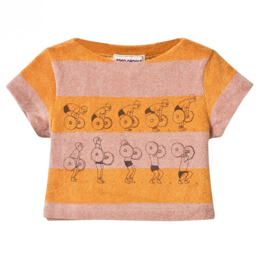 Bobo Choses Baby Terry Top Weightlifting Golden Nugget T-Paita