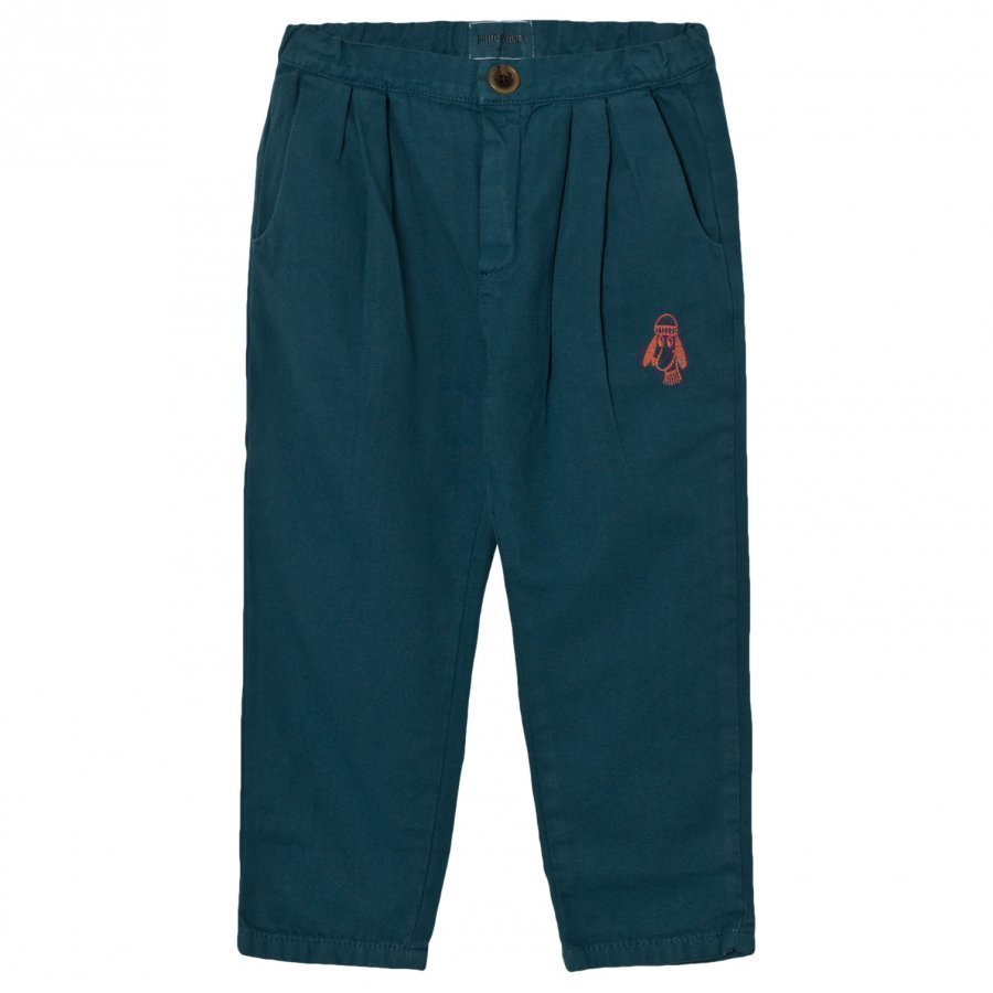 Bobo Choses Baggy Trousers Loup Embroidery Chinos Housut