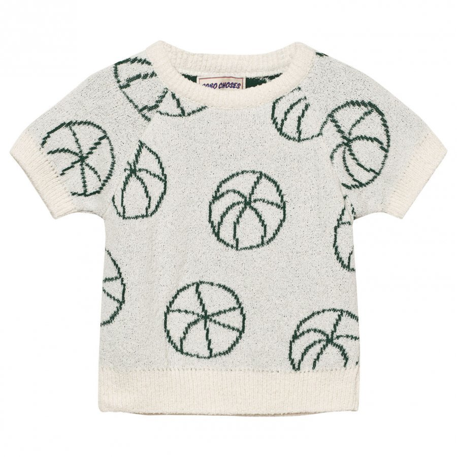 Bobo Choses Basket Ball Baby Knit Sweater Off White Paita