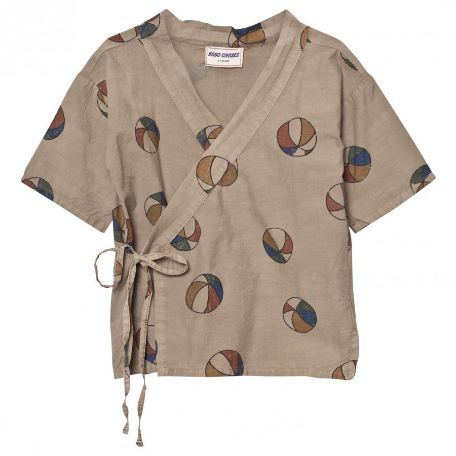 Bobo Choses Basket Ball Kimono Shirt Chateau Grey Pusero