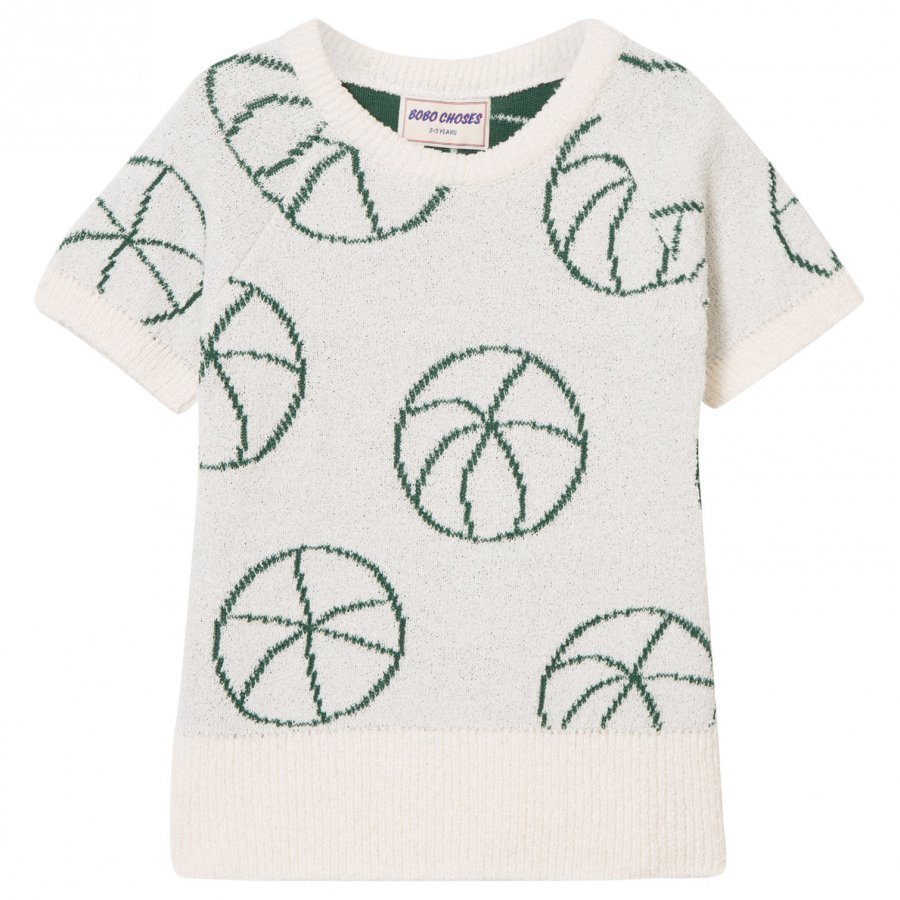 Bobo Choses Basket Ball Knit Sweater Off White Paita