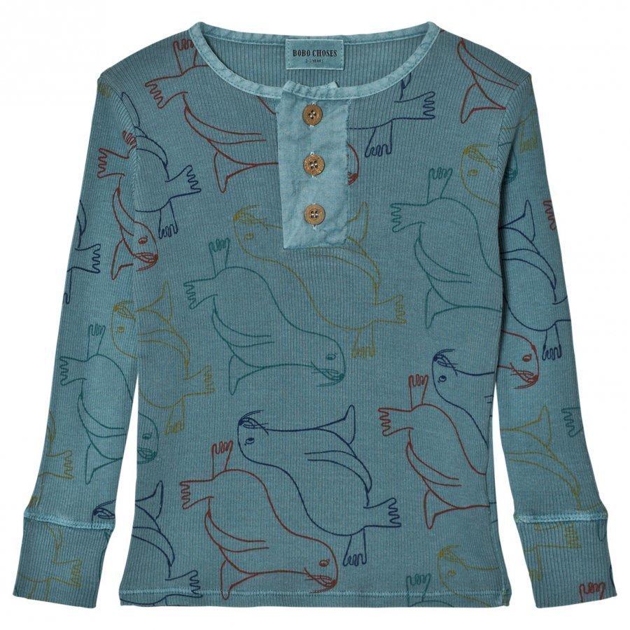 Bobo Choses Buttons T-Shirt Otariinae Pitkähihainen T-Paita