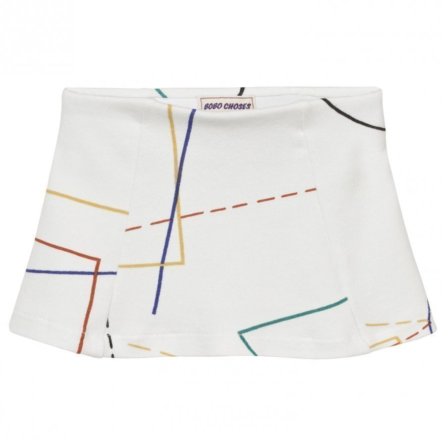 Bobo Choses Court Tennis Skirt Off White Lyhyt Hame