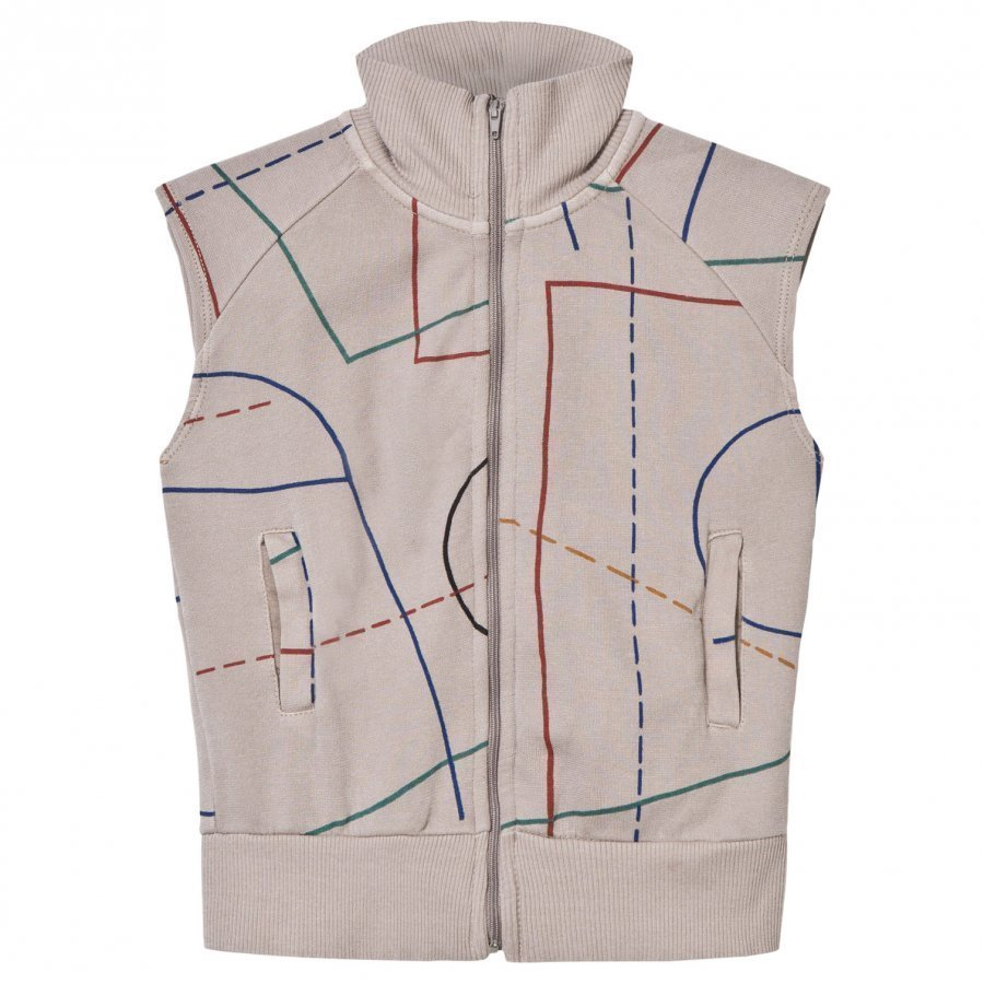 Bobo Choses Court Zip Vest Chateau Grey Oloasun Paita
