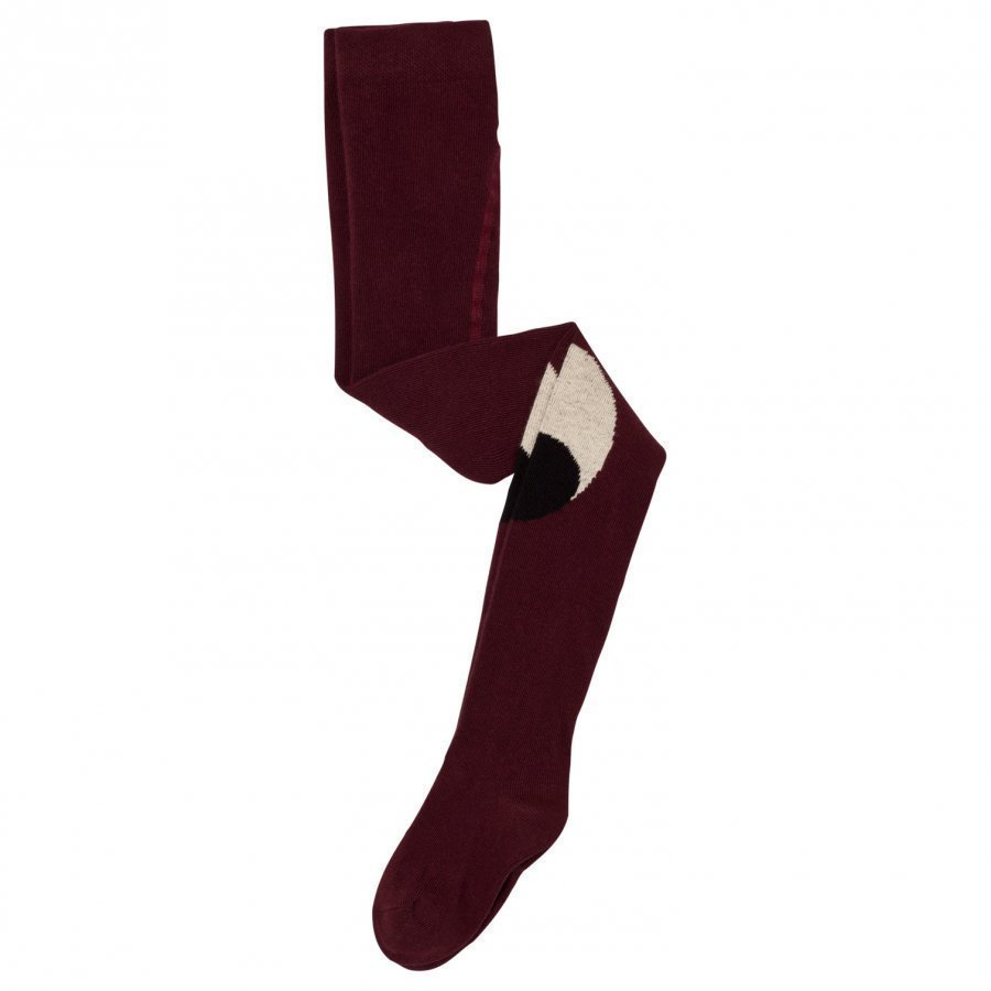 Bobo Choses Eyes Tights Burgundy Sukkahousut
