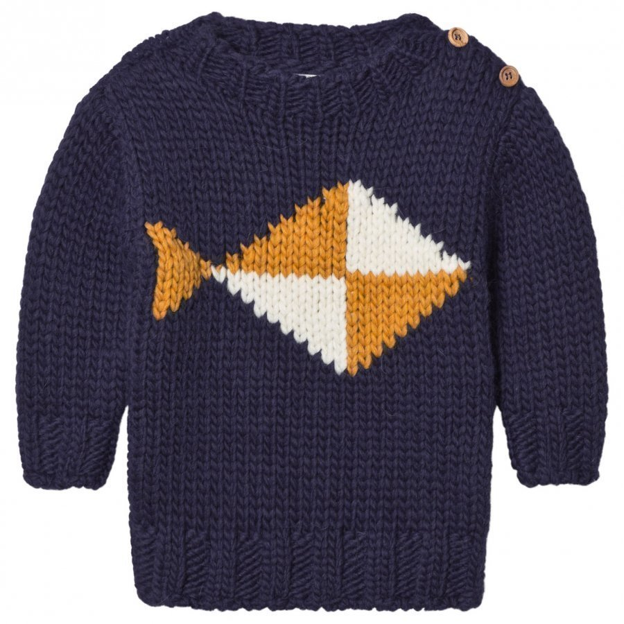 Bobo Choses Fish Intarsia Knitted Sweater Paita
