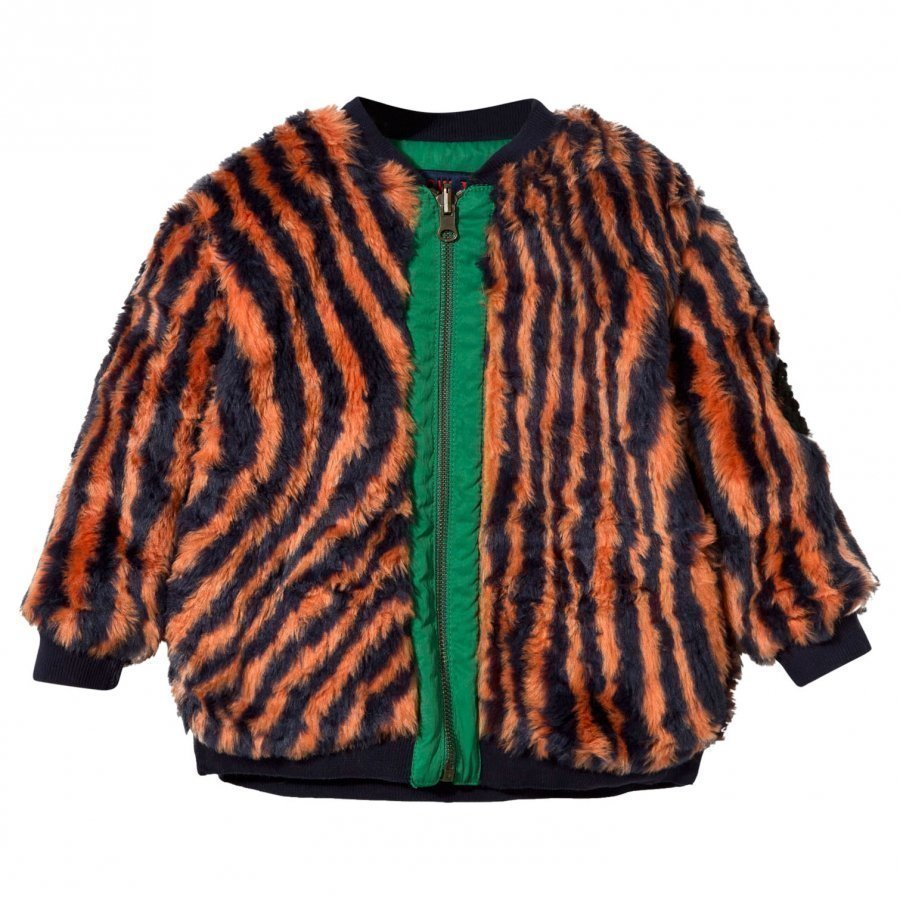 Bobo Choses Hypnotized Reversible Faux Fur Jacket Turkis