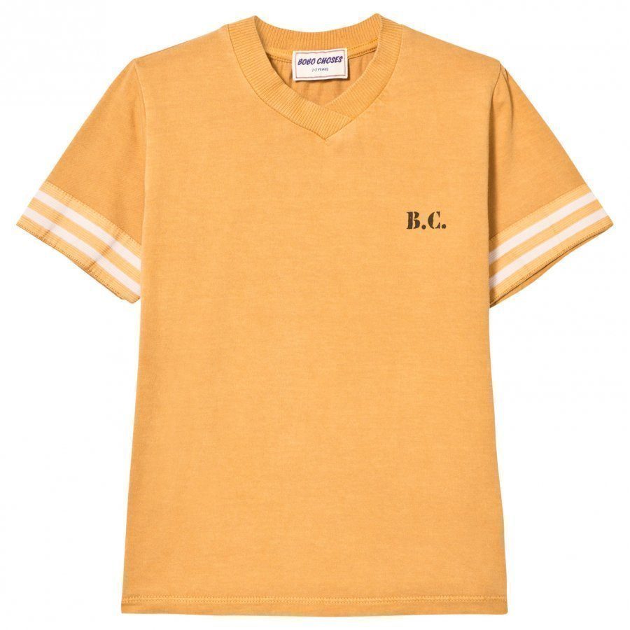 Bobo Choses Jamaica V-Neck T-Shirt Golden Nugget T-Paita