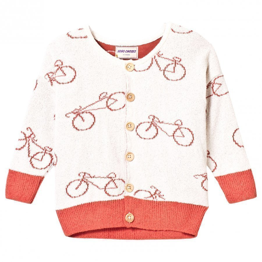 Bobo Choses Knit Cardigan The Cyclist Off White Neuletakki