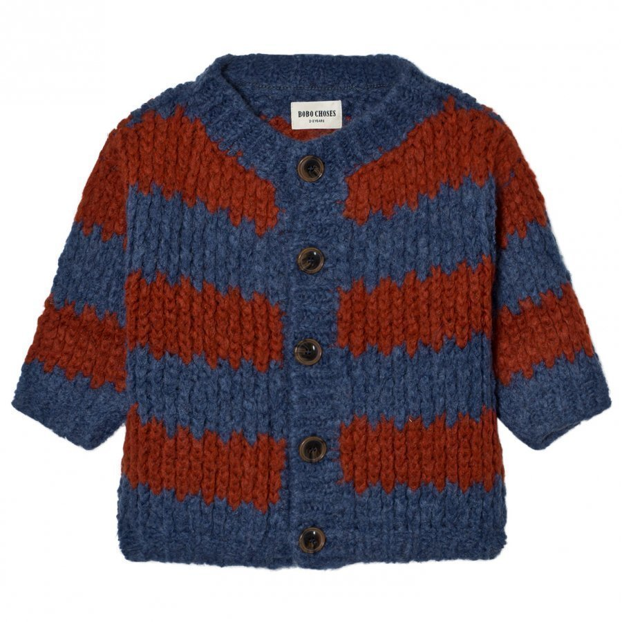 Bobo Choses Knitted Cardigan Big Stripes Paita