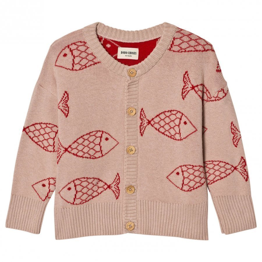 Bobo Choses Knitted Cardigan Shoaling Fish Paita