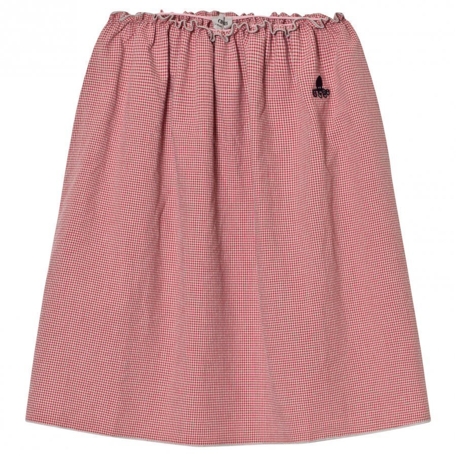Bobo Choses Long Flared Skirt Vichy Maxihame