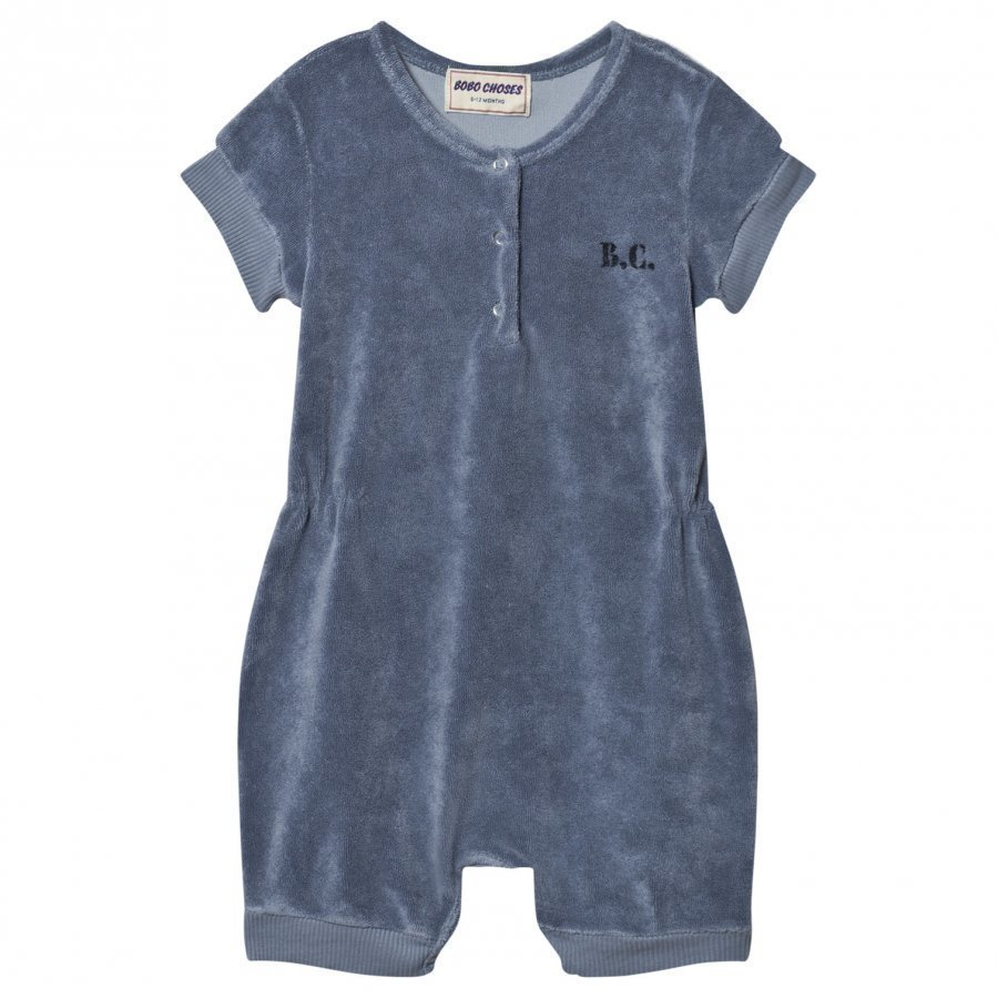 Bobo Choses Mr. Badminton Terry Romper Cloud Blue Romper Puku