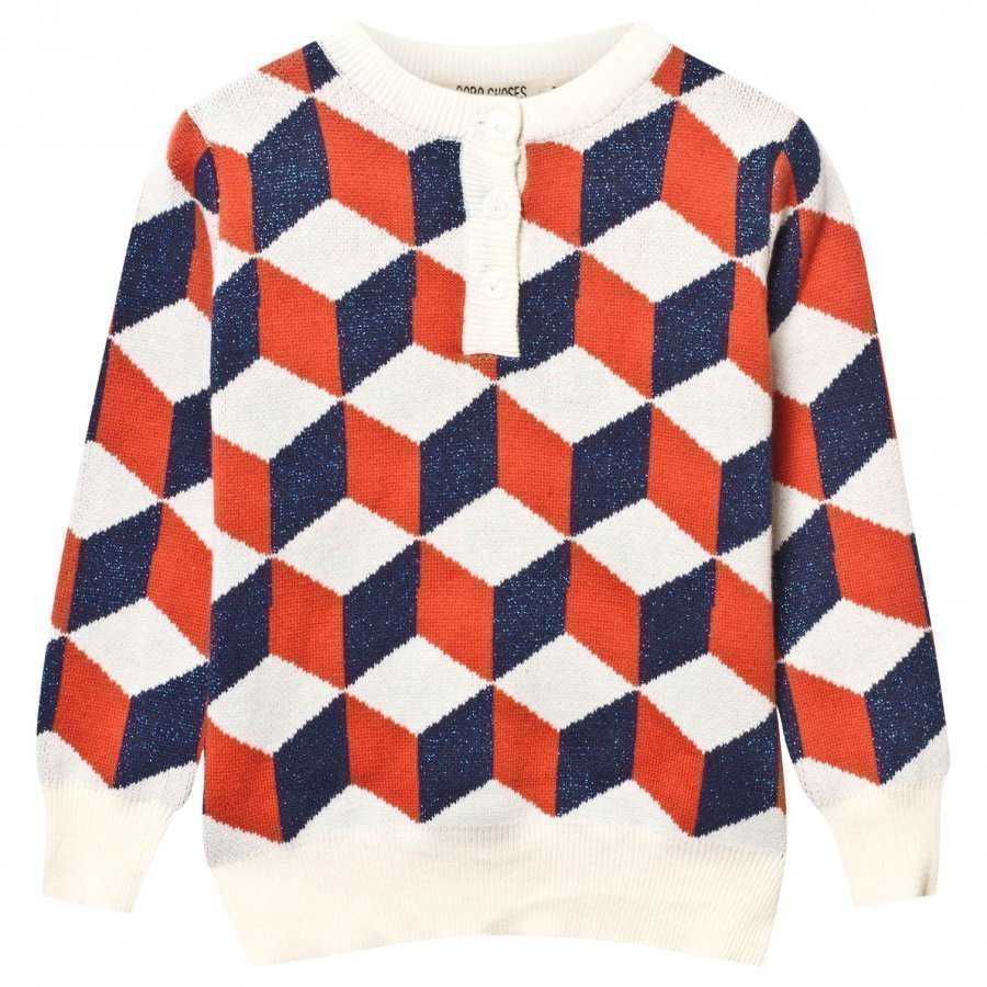 Bobo Choses Op Art Knitted Sweater Blue Paita