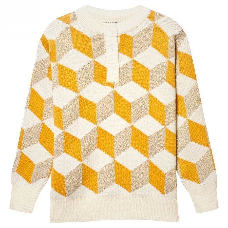 Bobo Choses Op Art Knitted Sweater Yellow Paita