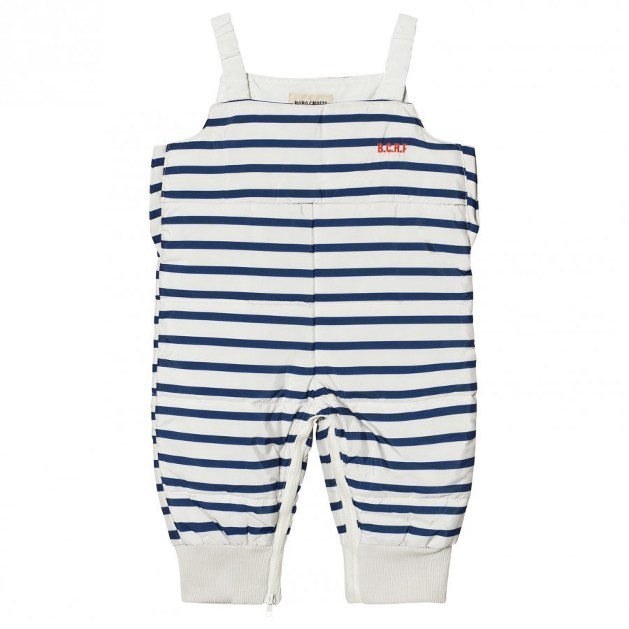Bobo Choses Padded Overall Navy Stripes Toppahousut