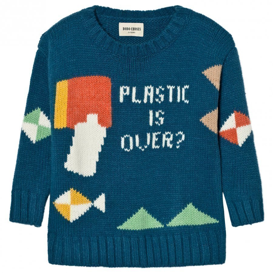 Bobo Choses Plastic Is Over? Intarsia Knitted Sweater Paita
