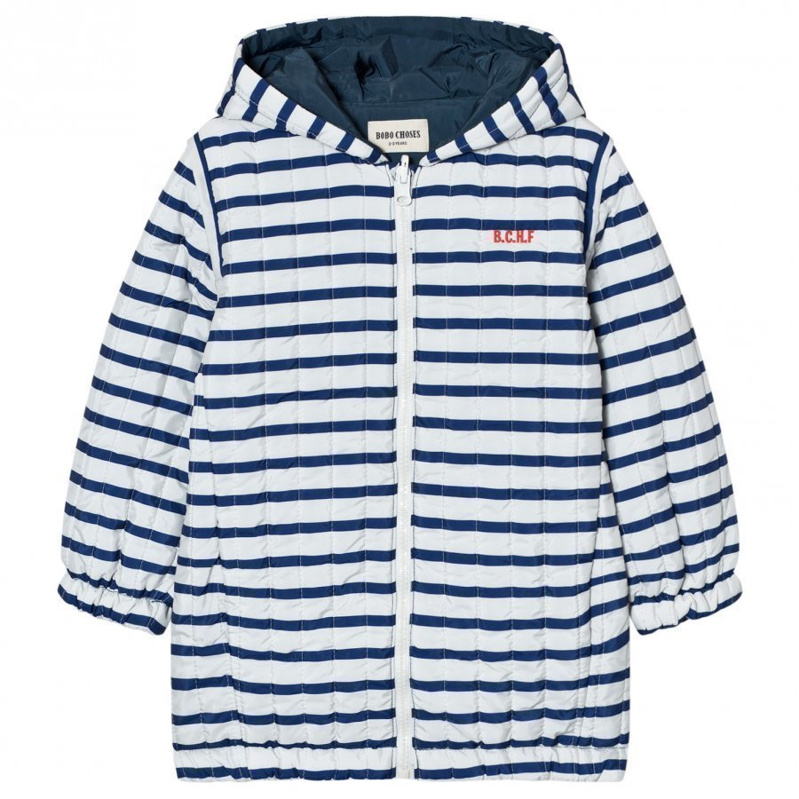 Bobo Choses Reversible Padded Anorak Navy Stripes Tikkitakki
