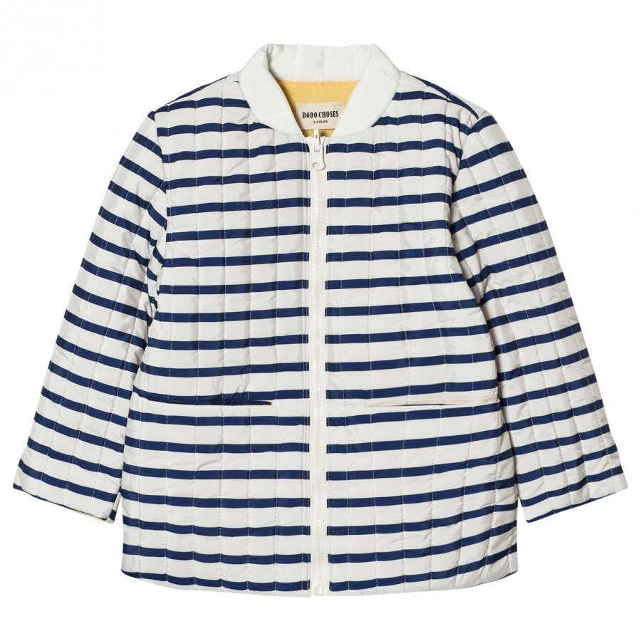 Bobo Choses Reversible Padded Jacket Navy Stripes Tikkitakki