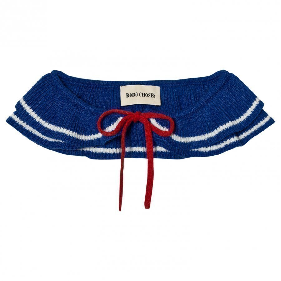 Bobo Choses Ruffles Knitted Collar Blue Kaulus