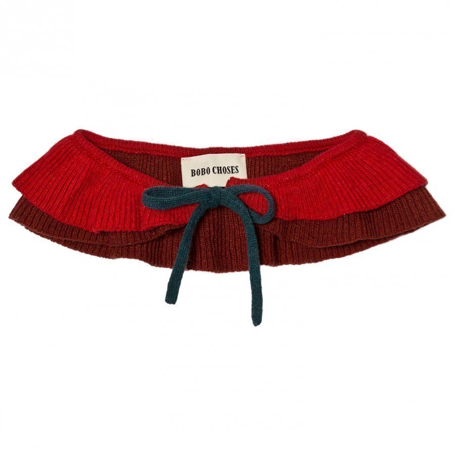 Bobo Choses Ruffles Knitted Collar Dusty Cedar Kaulus