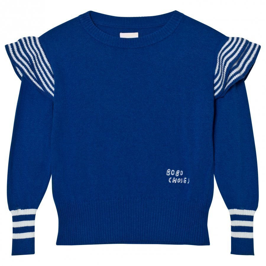 Bobo Choses Ruffles Knitted Jumper Blue Paita