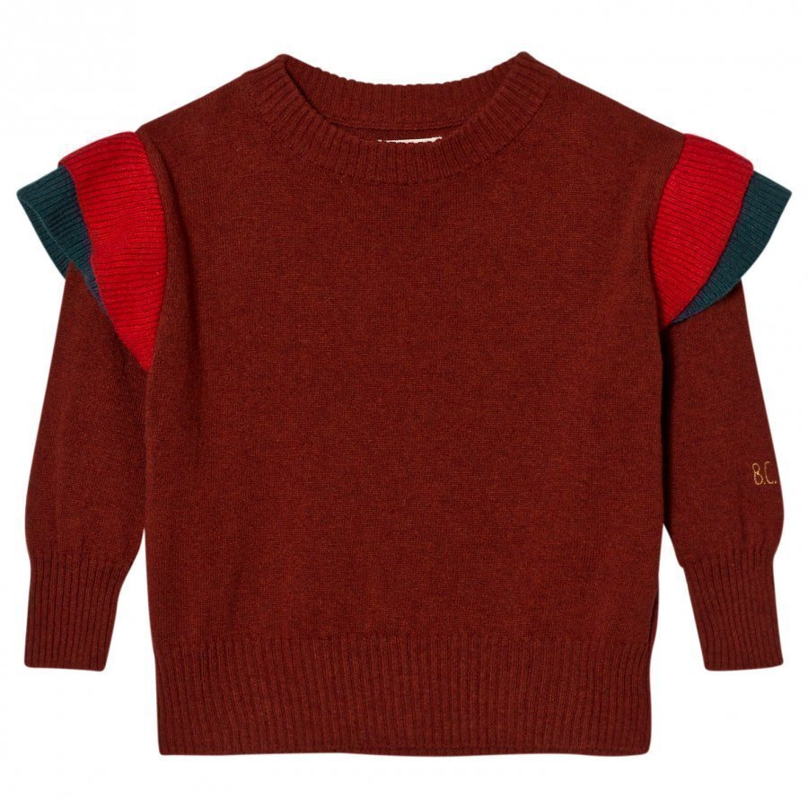 Bobo Choses Ruffles Knitted Jumper Dusty Cedar Paita