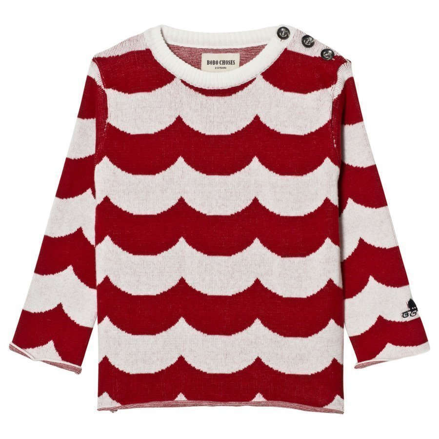 Bobo Choses Sailor Knitted Jumper Sea Red Waves Paita