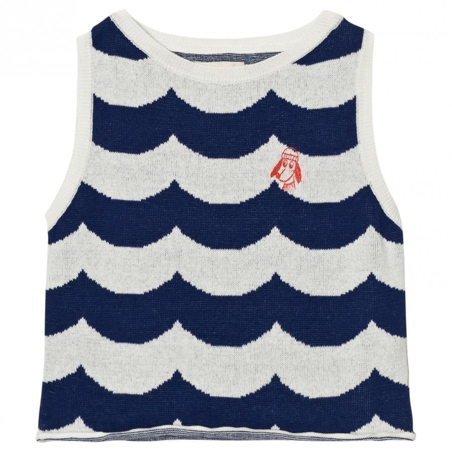Bobo Choses Sailor Knitted Vest Sea Blue Waves Paita