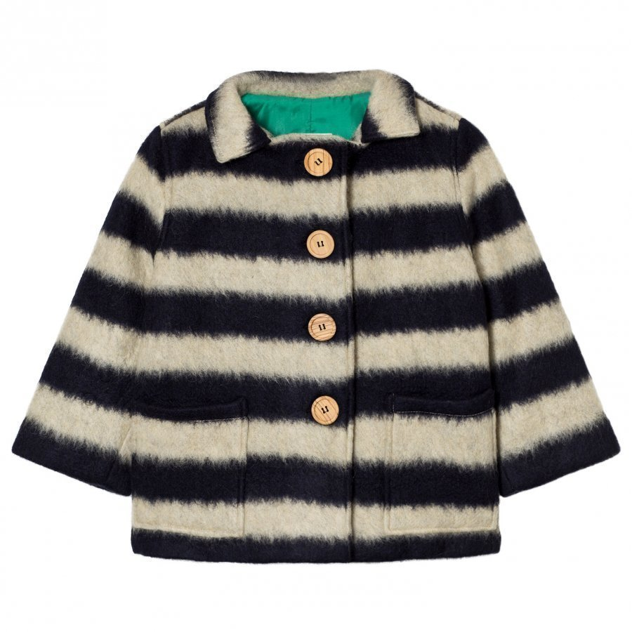 Bobo Choses Sheep Skin Jacket Big Stripes Turkis