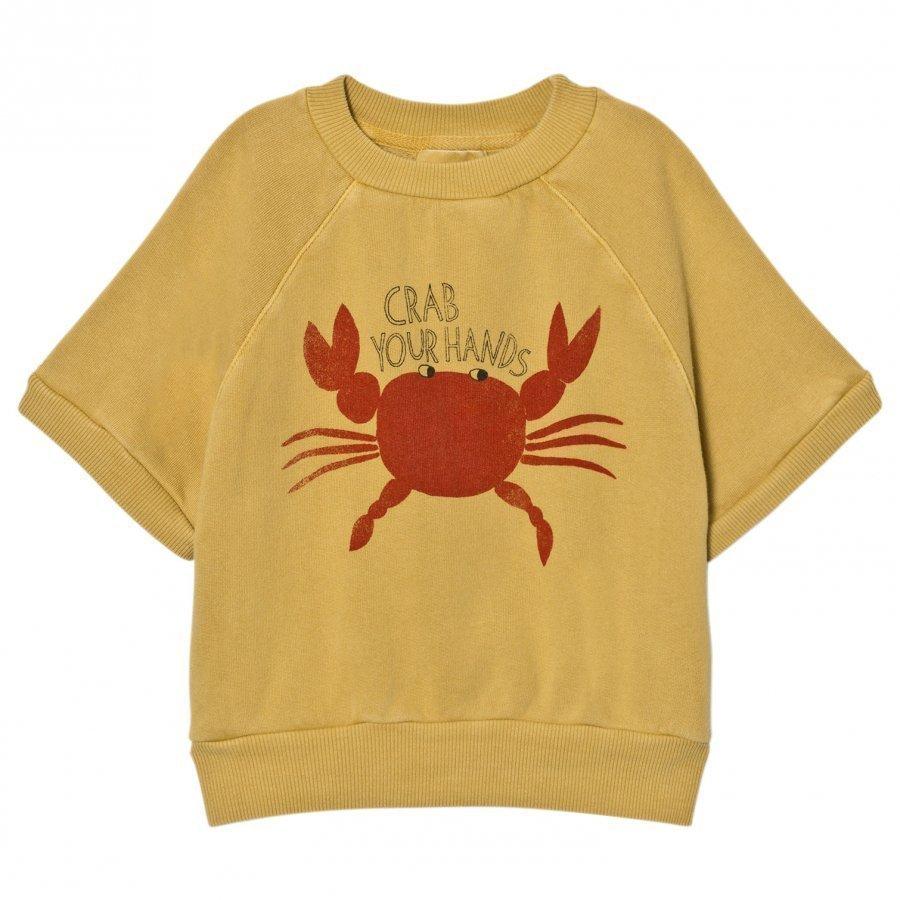 Bobo Choses Short Sleeved Sweatshirt Crab Your Hands T-Paita