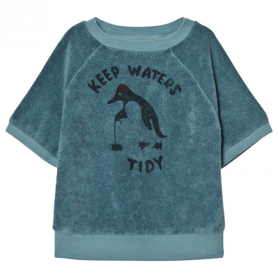 Bobo Choses Short Sleeved Sweatshirt Keep Waters Tidy T-Paita