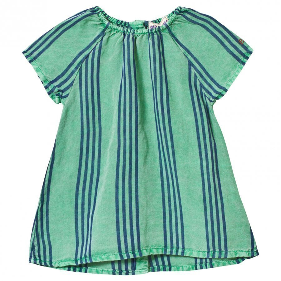 Bobo Choses Striped Baby Dress Mint Mekko